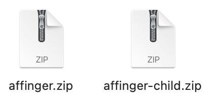 アフィンガーファイル