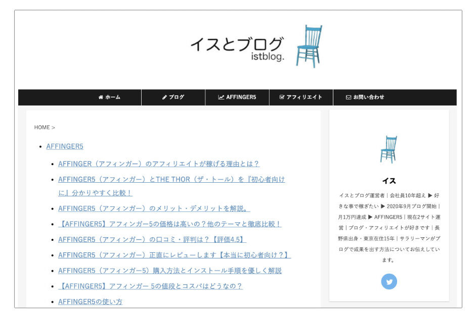 HTMLサイトマップ作成後の画像